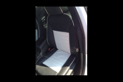 Dodge Charger two toned leather driver's seat