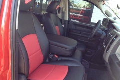 Dodge Ram two toned leather front row