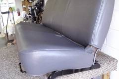 Ford F-150 bench seat side view after reupholstery