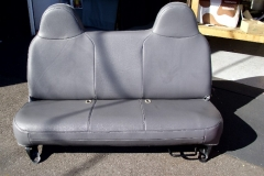 Ford F-150 bench seat front view after reupholstery