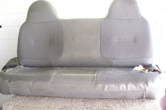 Ford F-150 bench seat before reupholstery