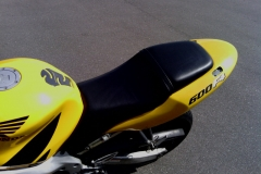 600 F4 Motorcycle seat re-cover - finished
