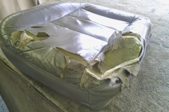 F150 seat re-upholstery - before