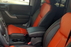 2015 Jeep Wrangler - rear row of custom two toned Katzkin leather interior
