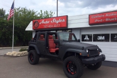 Jeep with new Katzkin leather interior