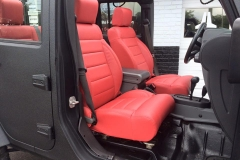 Jeep with new Katzkin leather interior