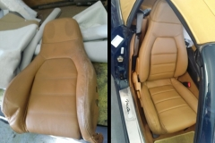 Miata seats before and after reupholstery