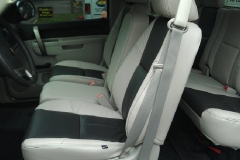 Silverado two toned Katzkin leather interior