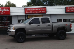 2012 Chevy Silverado - full tint & nerf bar installation