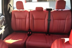 2017 F150 Katzkin Cardinal Red Interior