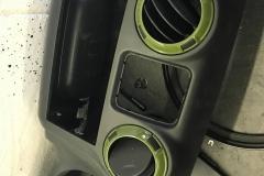 old dash trim removed