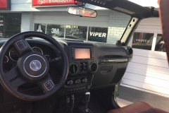 Jeep Wrangler 6x6 - stereo before