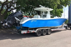 Yellowfin Blue Fishing Boat with JL Amp Upgrade